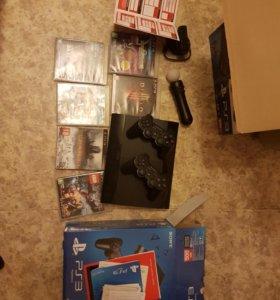 Sony Playstation 3 Super Slim 500gb +move+eye+игры