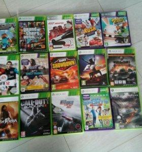 Диски на Xbox 360 каждый по 500р не прошитые