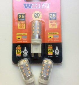 Лампы светодиодные Wolta, G9, 2,5 ватт, 3 шт.