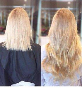 Наращивание волос по всем технологиям.Выезд до 24
