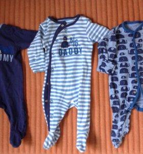 Слипы Mothercare на 1-3 месяца р. 62