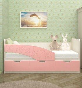 Кровать детская Бабочки
