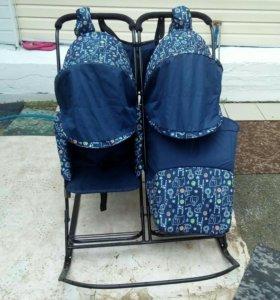 Санки- коляска для двойни