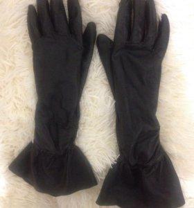 Перчатки, кожа натуральная