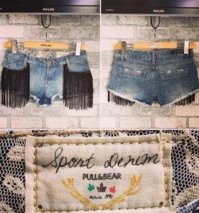 Новые джинсовые шорты Pull and Bear