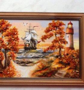 Картины с янтарем