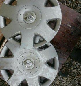 Колпаки Nissan Almera R15 2 штуки