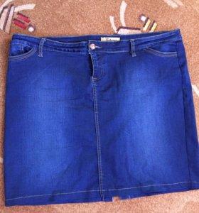 Джинсовая юбка 58 размер