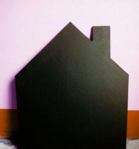Меловая доска в виде домика