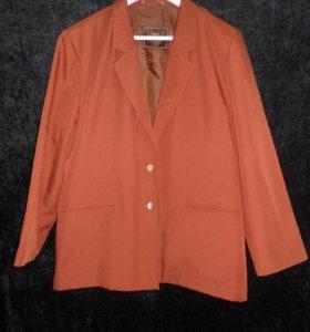 Винтажный лёгкий шерстяной пиджак