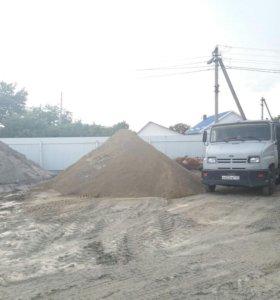 Песок,щебень,отсев,гпс от1м.куб.