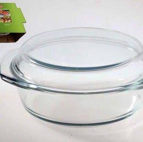 Кастрюля из жаропрочного стекла 2,5 л