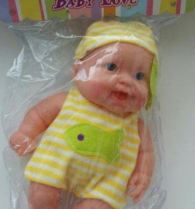 Новый пупс кукла с одеждой