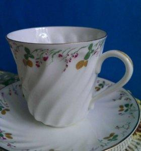 Чашка с блюдцем кофейная лфз фарфор