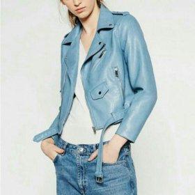 Куртка новая.нежно голубого цвета.