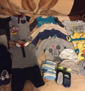 Пакет вещей на мальчика с 62 до 80 размера