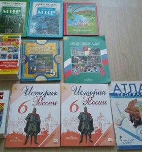 Учебники для 3,4,5,6 классов(новые)