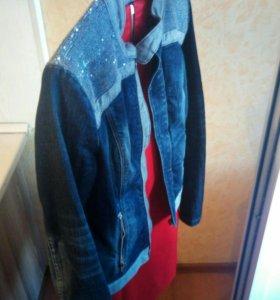 Куртка джинсовая с пайетками