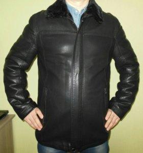 Куртка зимняя кожаная мужская 46-48