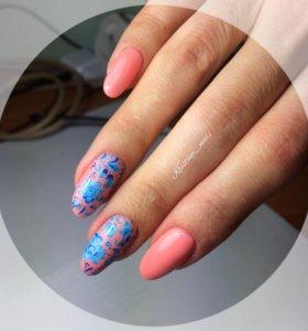 Выравнивание ногтевой пластины , гель лак