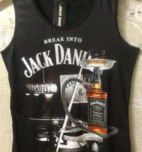 """Майка женская """"Jack Daniel's"""" со стразами"""