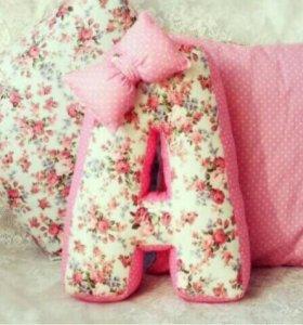 Объёмные буквы подушки