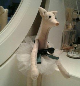 Мягкая игрушка. Текстильная кукла. Балерина.