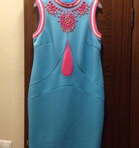 Платье розово-голубое