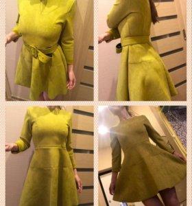 Платье замшевое новое 40-42