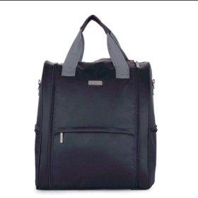Сумка-рюкзак для коляски в темно-синем цвете.