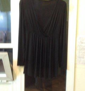 Платье х/б чёрное