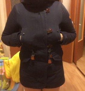 Куртка парка зима темно-синяя