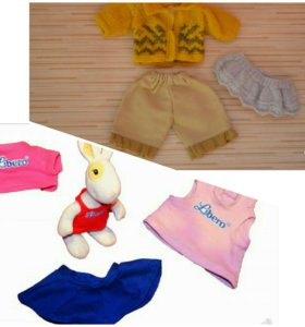 Заяц с одеждой, одежда для куклы,