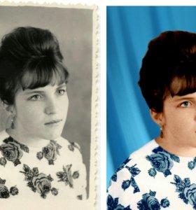 Фотомонтаж, оцветнение и реставрация фотографий