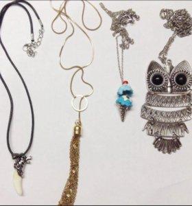 Новые подвески, ожерелья,украшения