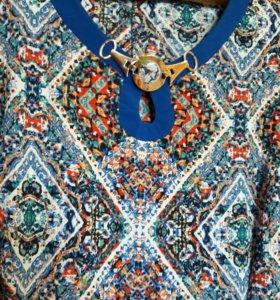 Платье летнее. Длиное в пол. Размер 48-50