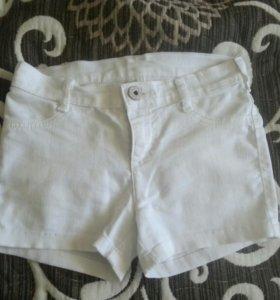 Джинсовые шорты для девочки 140