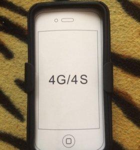 Чехол 3 в 1 на iPhone 4/4s