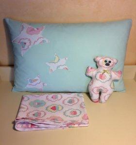 Детская подушка с наволочкой