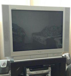 Телевизор + приставка для цифрового ТВ