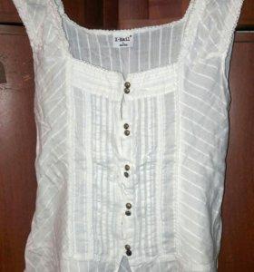 Нарядная белая блузка/топ X-Mail 100% хлопок