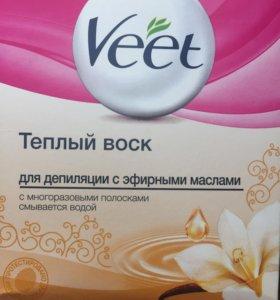 Тёплый воск Veet для депиляции с эфирными маслами