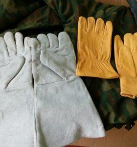Краги,перчатки кожаные