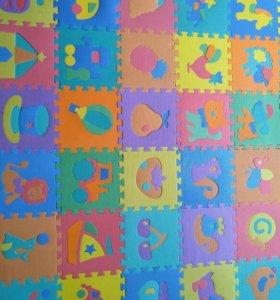 Детские коврики ПАЗЛ 3D