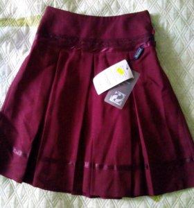 Школьная юбка и жилетка (комплект)