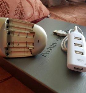 USB 4PORT зарядник аккумуляторные батареи