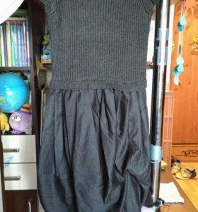 Стильное Платье с необычной юбкой