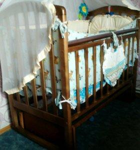 Детская кровать маятник .