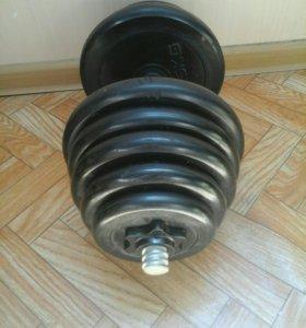 Гантеля 16 кг. 1 шт. Разборная прорезининая