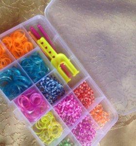 Комплект резинок для плетения+станок с крючками.
